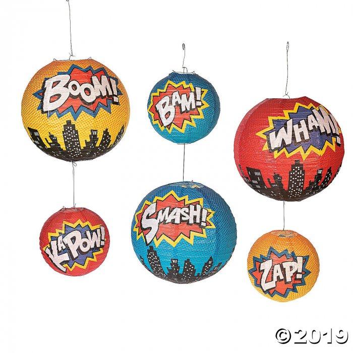 Superhero Hanging Paper Lanterns (6 Piece(s))