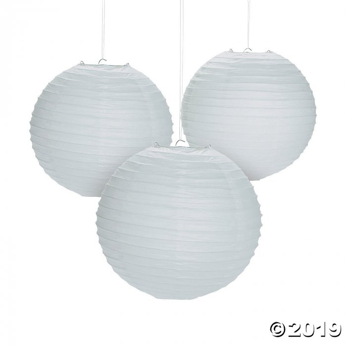 White Hanging Paper Lanterns (6 Piece(s))