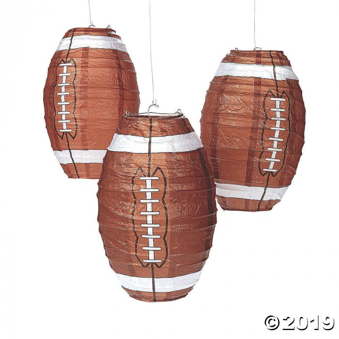 Football Hanging Paper Lanterns (3 Piece(s))