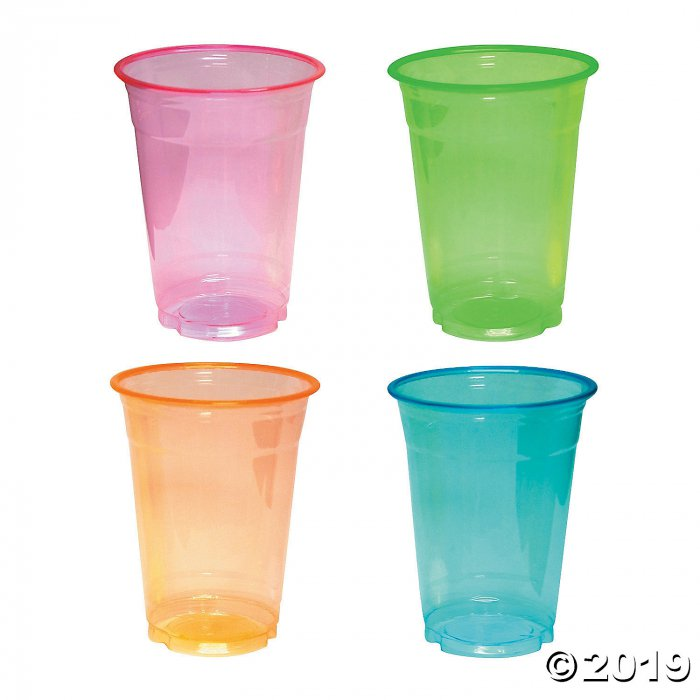 Large Neon Plastic Cups (20 Piece(s))