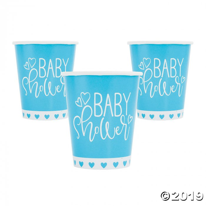 Blue Hearts Baby Shower Paper Cups (8 Piece(s))