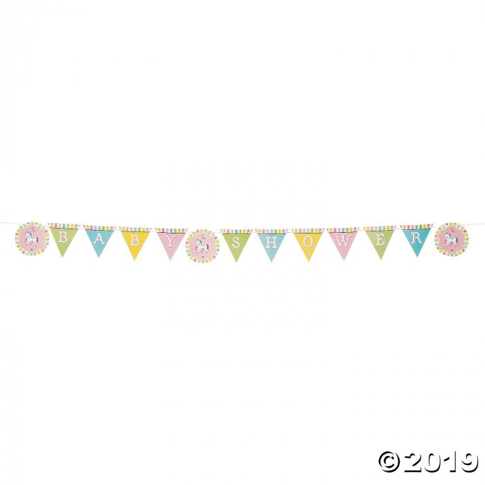 Carousel Baby Shower Pennant Banner (1 Piece(s))