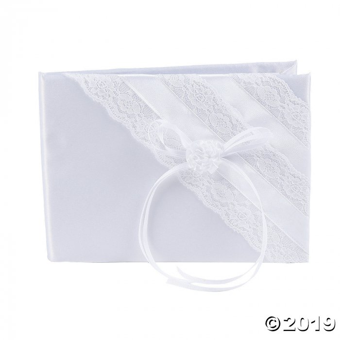 White Lace Wedding Guest Book (1 Piece(s))