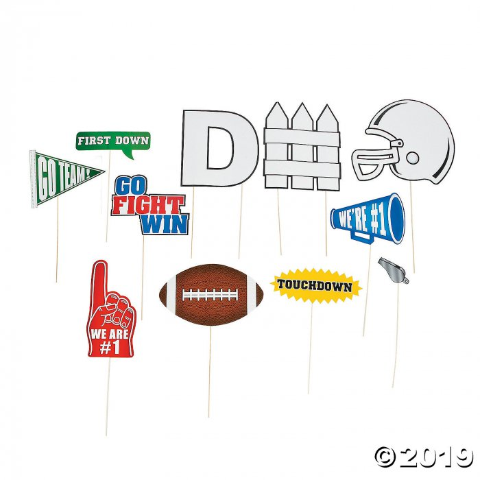 Football Photo Stick Props (Per Dozen)