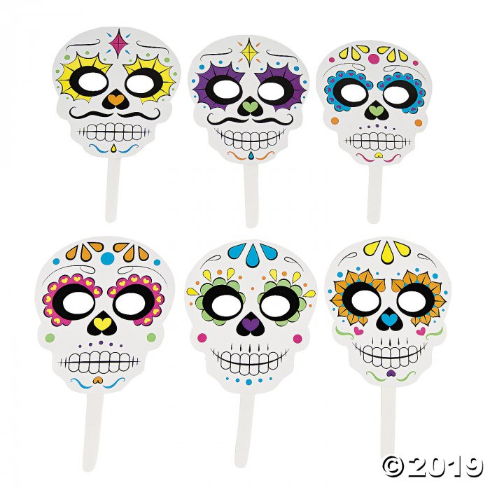 Day of the Dead Sugar Skulls Photo Booth Props (1 Set(s))
