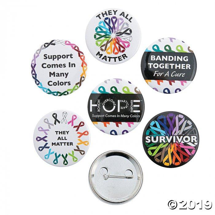 Awareness Ribbons Buttons (Per Dozen)