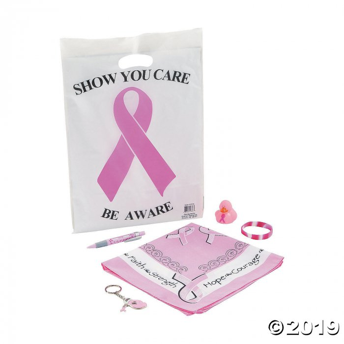 Pre-Filled Breast Cancer Awareness Goody Bags (Per Dozen)