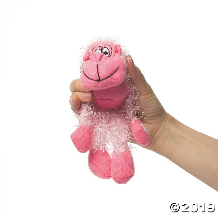 Valentine Long Arm Stuffed Gorillas (Per Dozen)