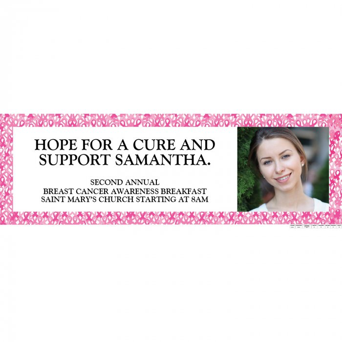 Custom Photo Awareness Banner - Medium (1 Piece(s))