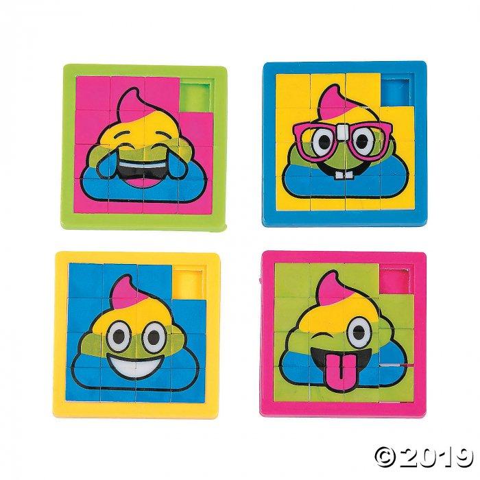 Rainbow Poop Emoji Slide Puzzles (Per Dozen)