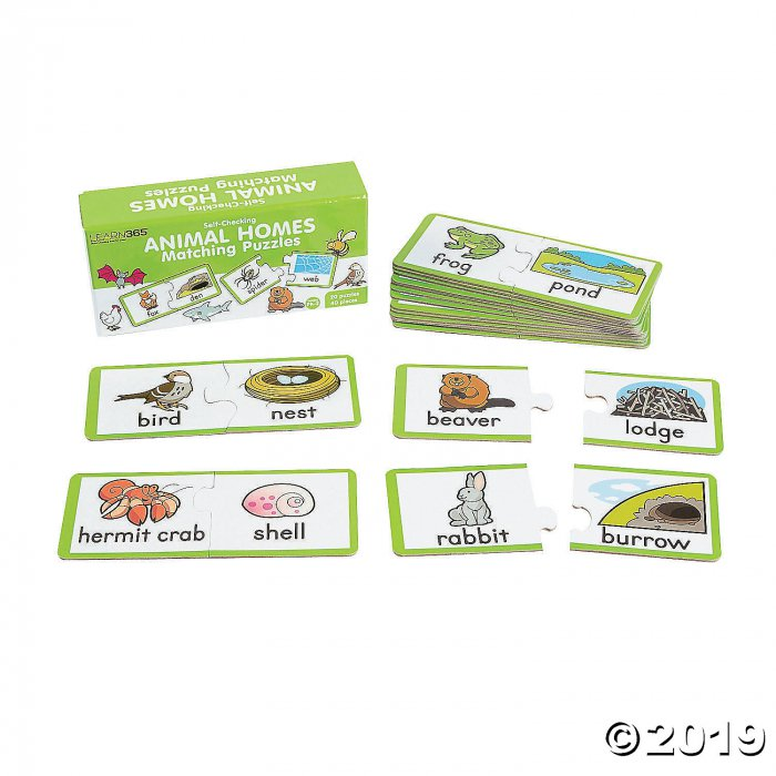 Animal Homes Puzzles (Makes 20)