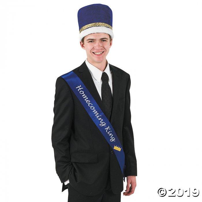 Blue Homecoming King Sash (1 Piece(s))