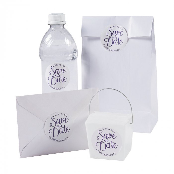 Personalized Save the Date Favor Stickers (144 Piece(s))