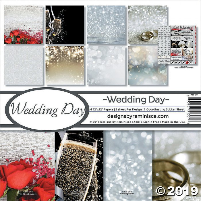 "Reminisce Collection Kit 12""X12""-Wedding Day (8 Sheet(s))"