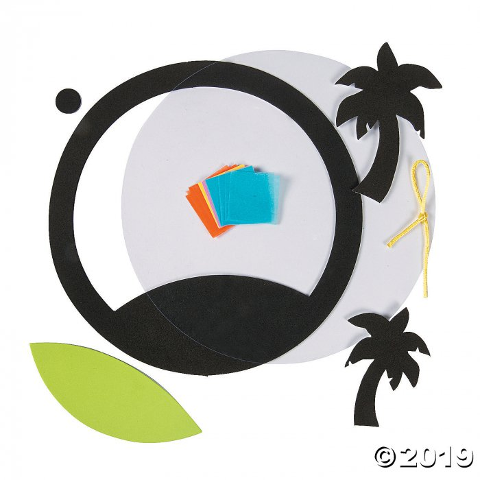Tropical Palm Tree Tissue Paper Craft Kit (Makes 12)