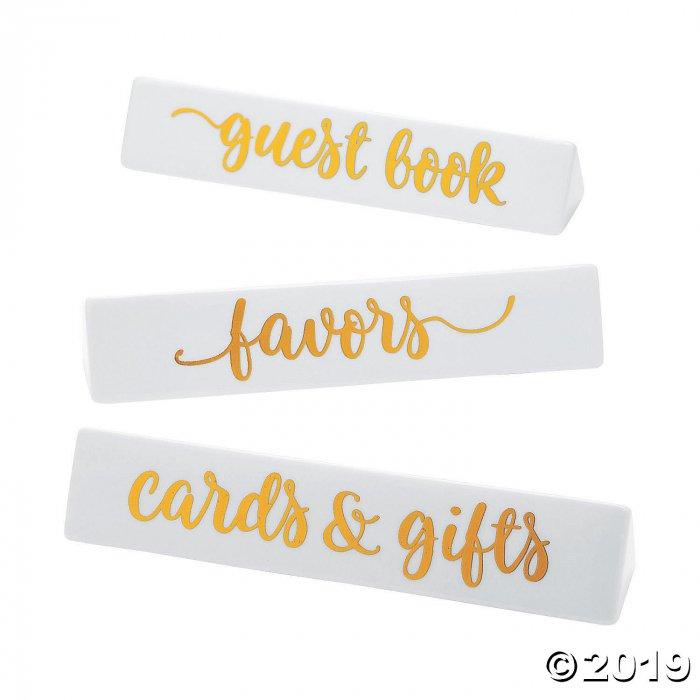 Triangle Wedding Sign Ceramic Name Plates (1 Set(s))