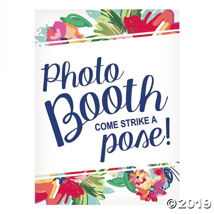 Bright Floral Photo Booth Sign (1 Piece(s))