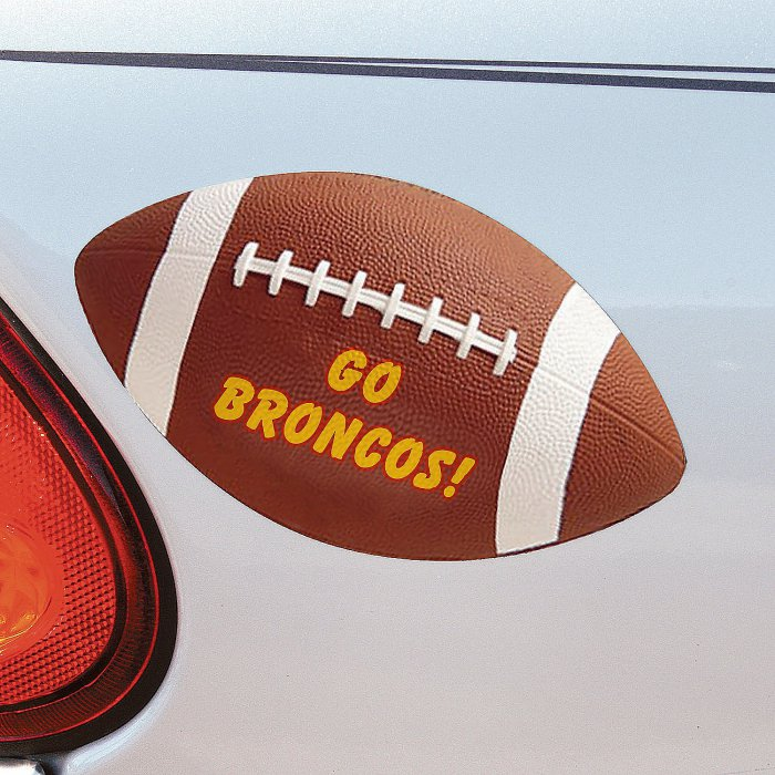 Football Personalized Car Magnets (Per Dozen)