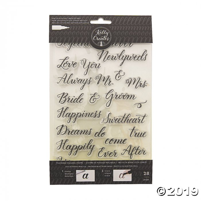 American Crafts™ Kelly Creates Wedding Traceable Stamps (28 Piece(s))