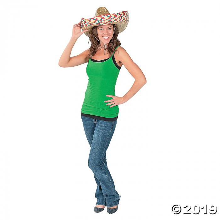 Adult's Embroidered Sombreros (Per Dozen)