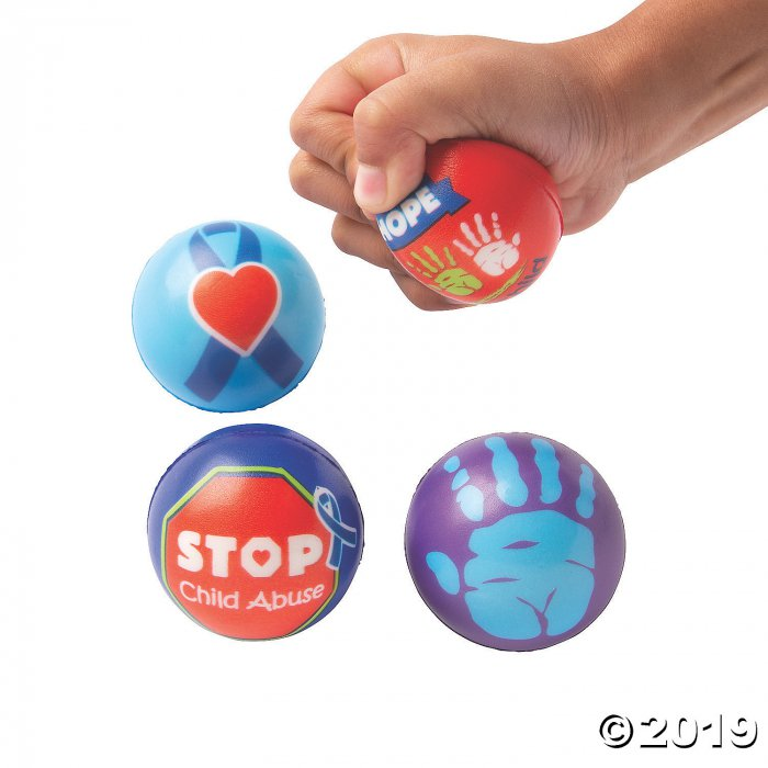 Child Abuse Awareness Stress Balls (Per Dozen)