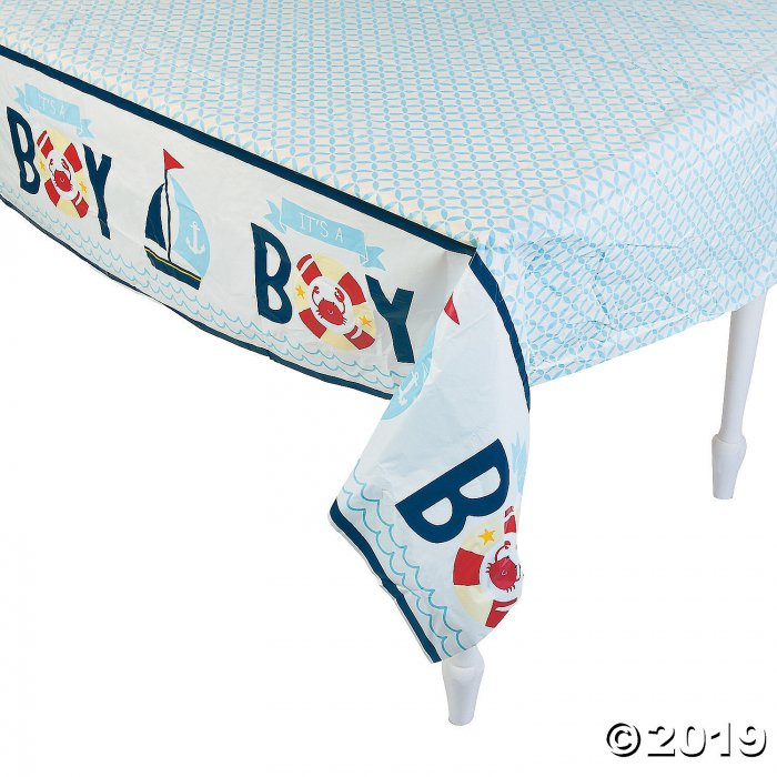 Nautical Baby Shower Plastic Tablecloth (1 Piece(s))