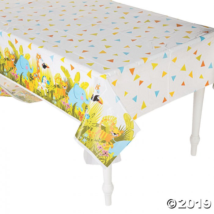 Jungle Baby Shower Plastic Tablecloth (1 Piece(s))