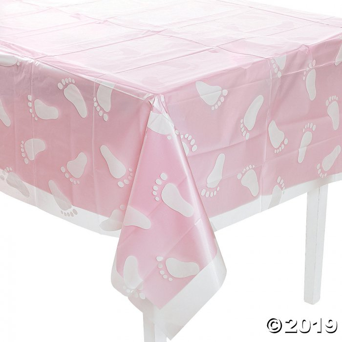 Clear Footprint Baby Shower Plastic Tablecloth (1 Piece(s))