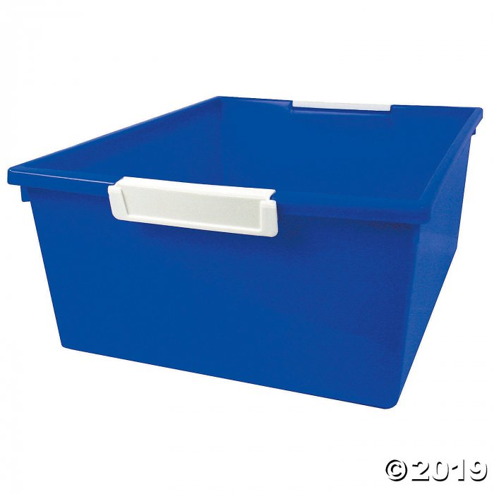 Tattle™ Tray with Label Holder, 12 Qt., Blue, Set of 3 (3 Piece(s))