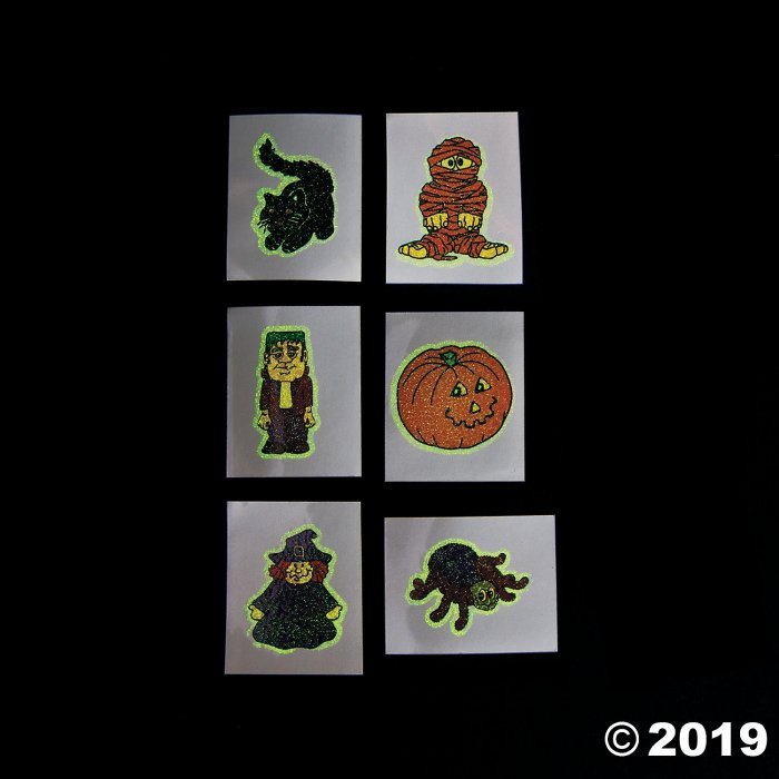 Halloween Glow-in-the-Dark Tattoos (72 Piece(s))