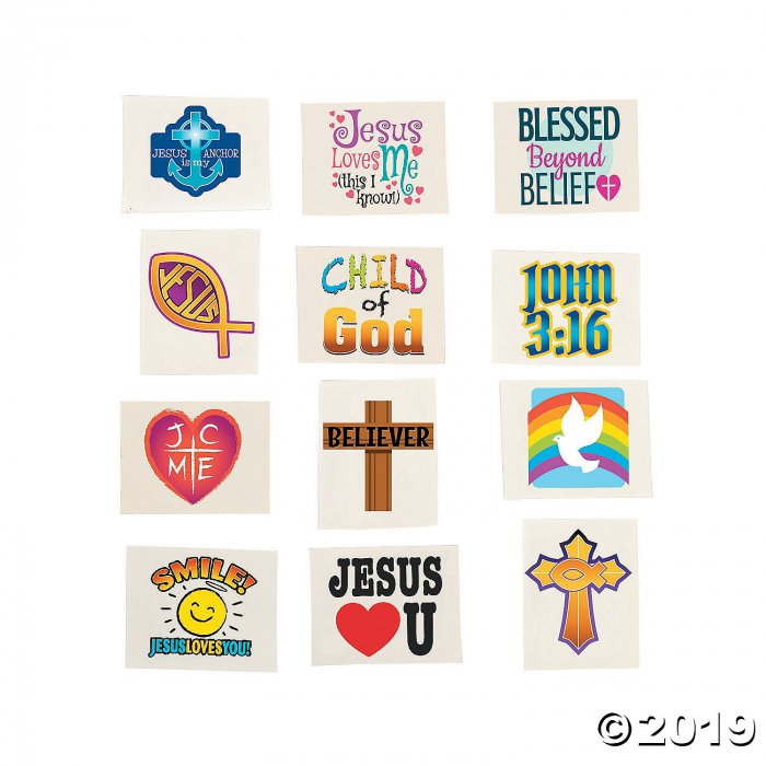 Religious Temporary Tattoos (72 Piece(s))