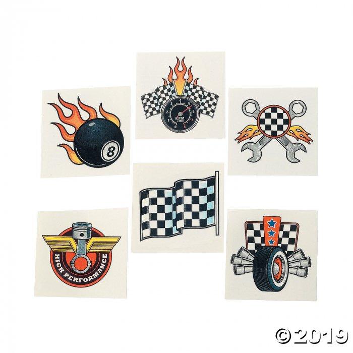 Race Car Tattoos (72 Piece(s))