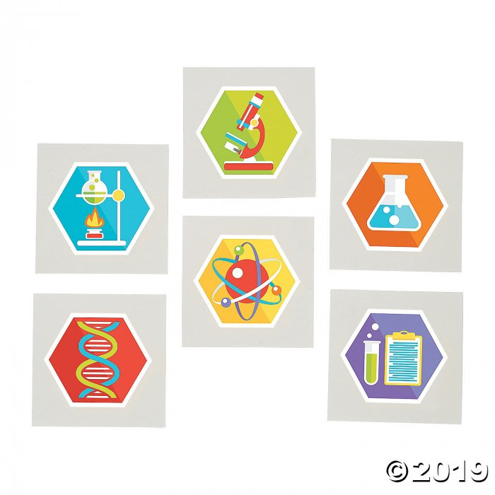 Science Party Tattoos (72 Piece(s))