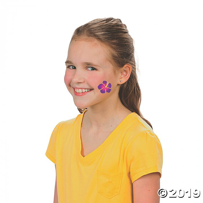 Hibiscus Glitter Tattoos (72 Piece(s))