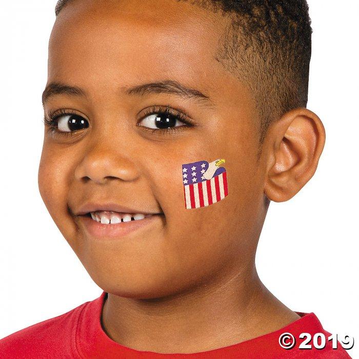 Patriotic Glitter Tattoos (72 Piece(s))