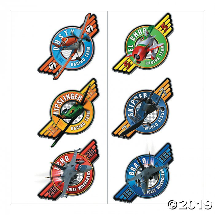 Colorful Disney Planes Tattoos - 12 Pc. (2 Sheet(s))