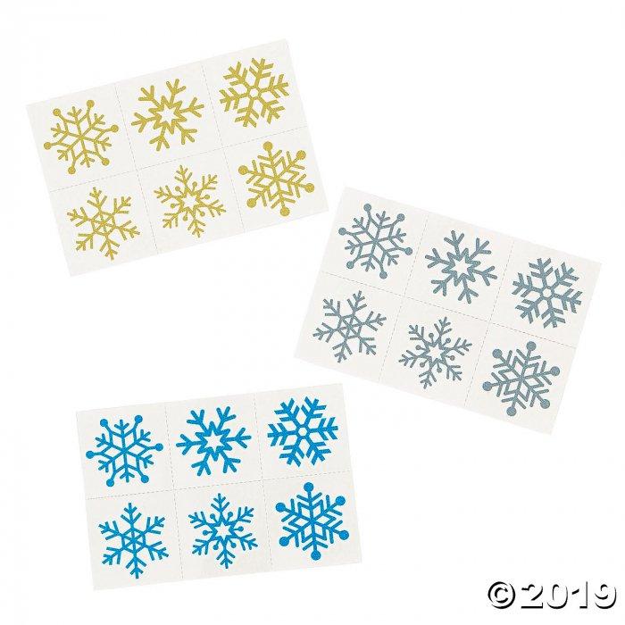 Glitter Snowflake Temporary Tattoos (1 Piece(s))
