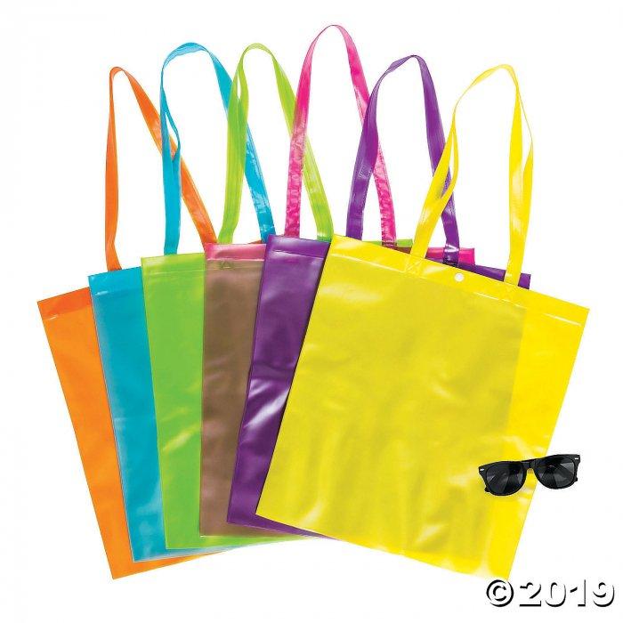 Large Bright Color Transparent Tote Bags (Per Dozen)