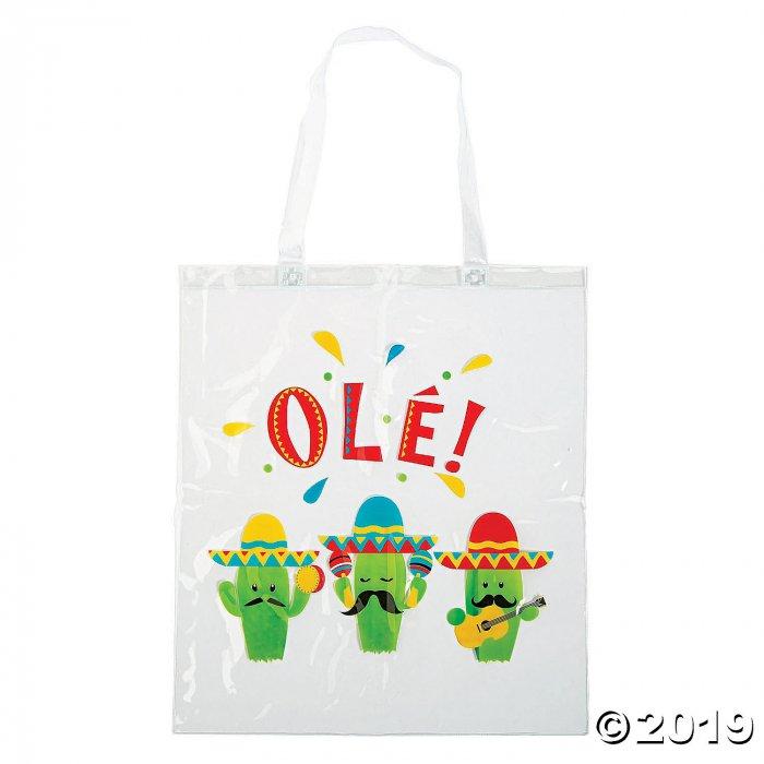Clear Fiesta Cactus Tote Bags (Per Dozen)