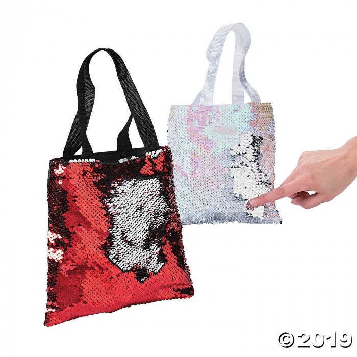 Mini Valentine's Day Flipping Sequins Tote Bags (Per Dozen)