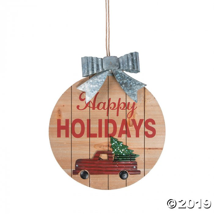 Happy Holidays Red Truck Sign (1 Piece(s))
