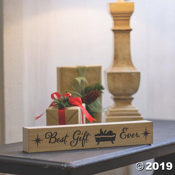 Best Gift Ever Baby Jesus Sign (1 Piece(s))