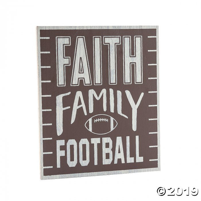 Faith Family Football Sign (1 Piece(s))
