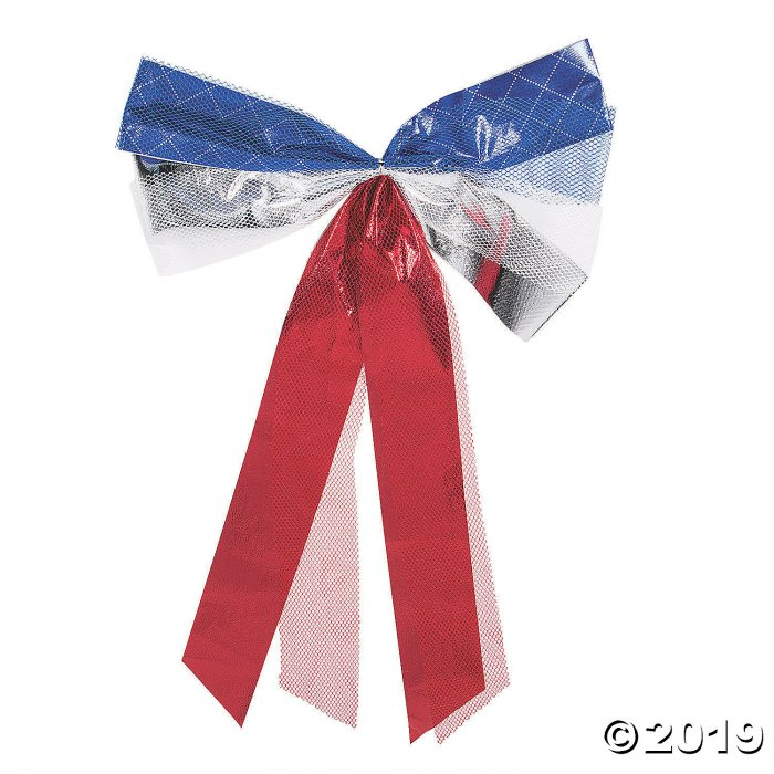 Large Metallic Patriotic Bows (6 Piece(s))