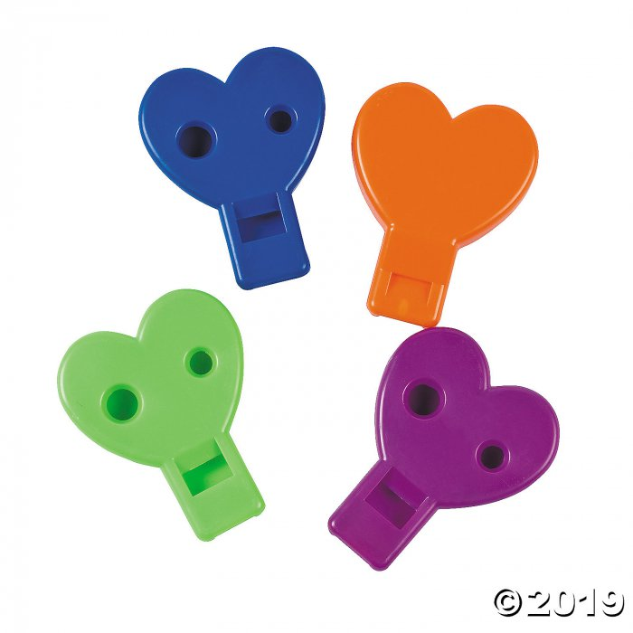Heart-Shaped Whistles (48 Piece(s))