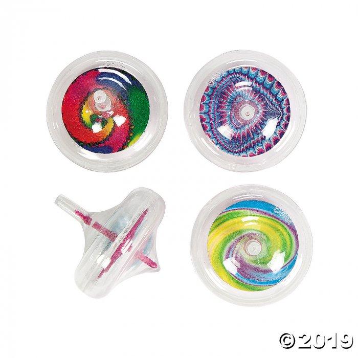 Glow-in-the-Dark Tie-Dyed Spin Tops (Per Dozen)