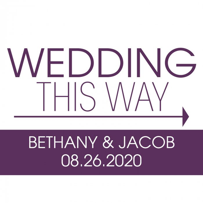 Personalized Wedding This Way Double-Sided Yard Sign (1 Piece(s))