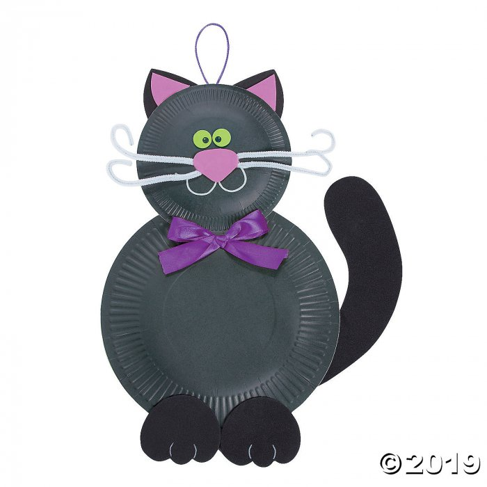 Paper Plate Friendly Black Cat Craft Kit (Makes 12)