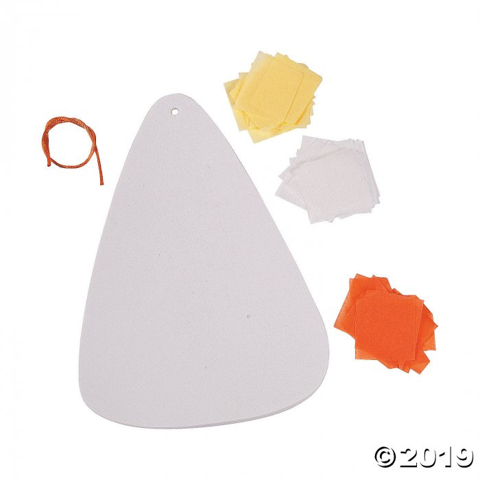 Candy Corn Tissue Paper Craft Kit (Makes 12)