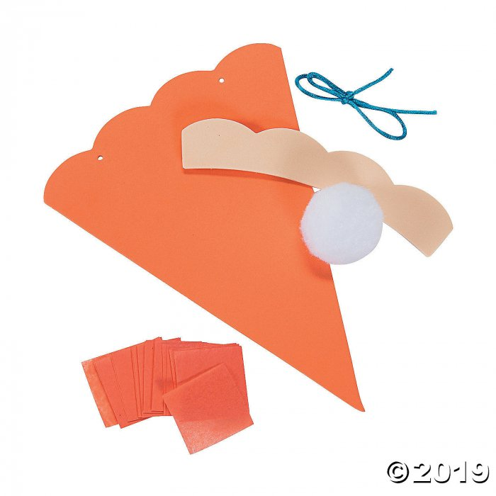 Pumpkin Pie Crinkle Tissue Paper Craft Kit (Makes 12)